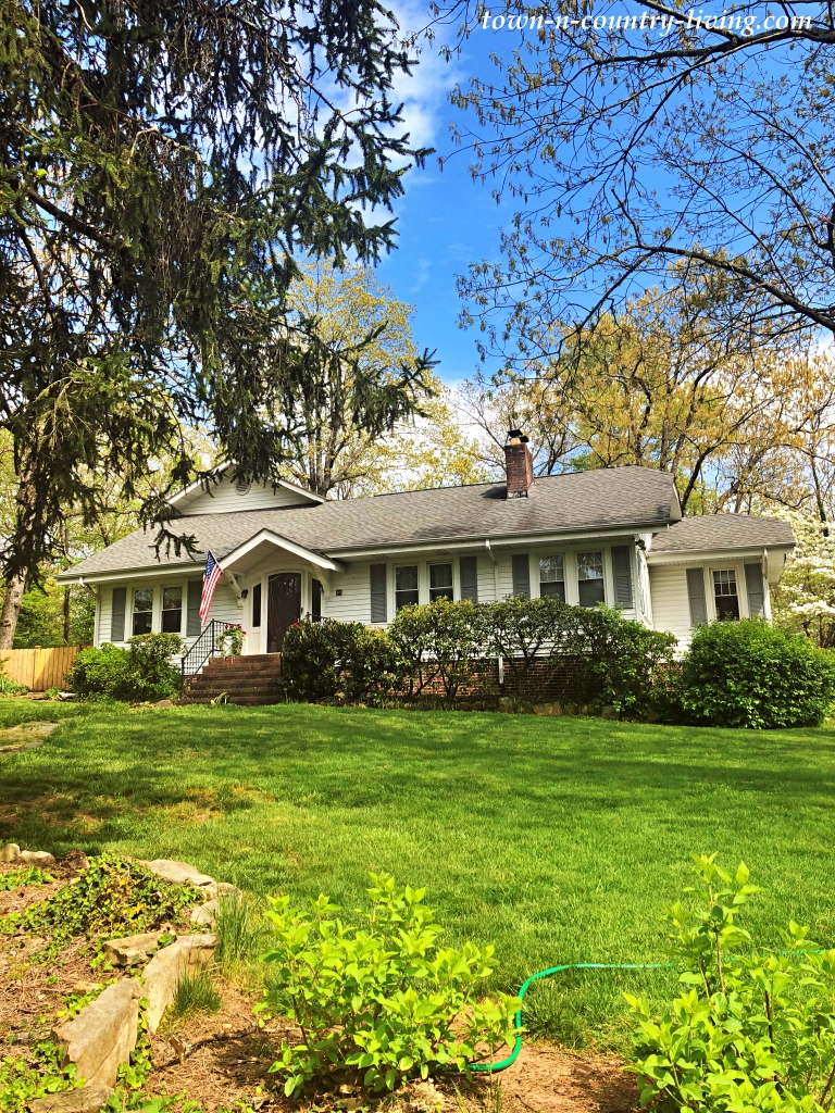 White Ranch Home on Wooded Lot