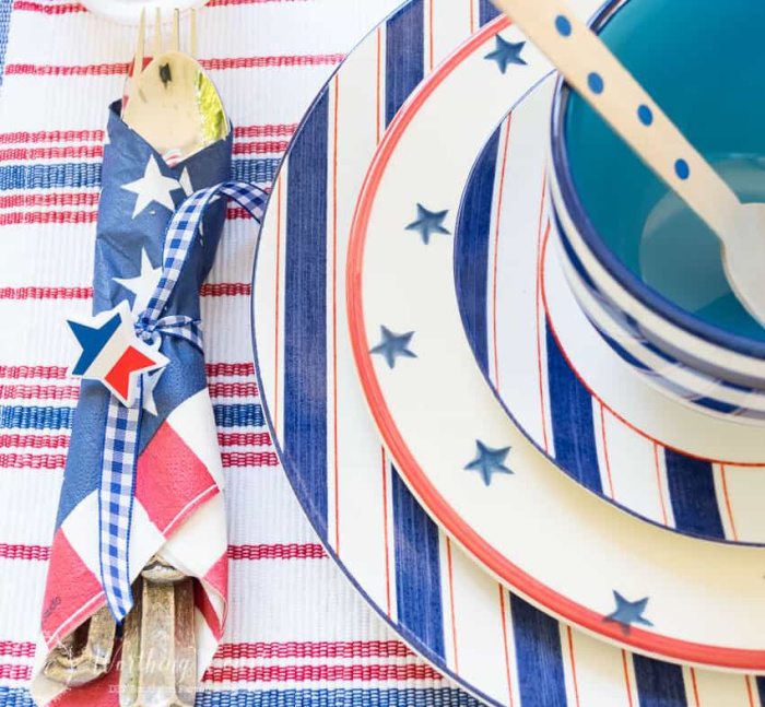 Patriotic Tablescape by Worthing Court