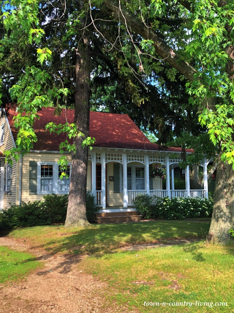 Yellow Victorian Cottage with Front Porch