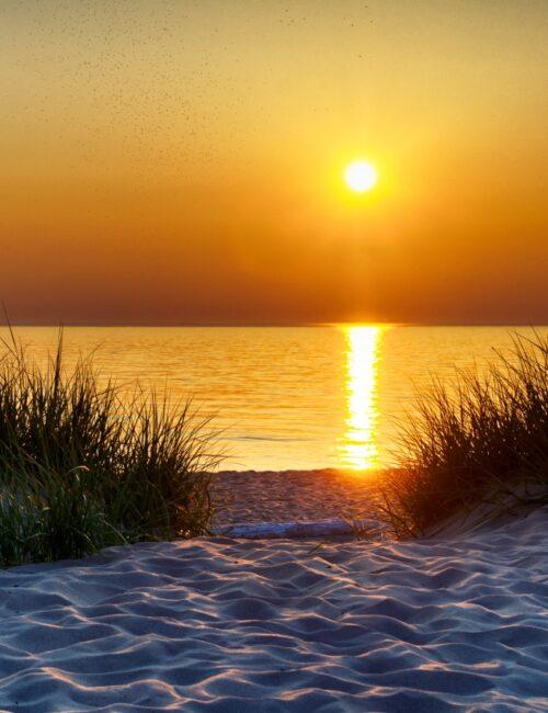 Sunset Over Lake Michigan - Summer Evening Activities