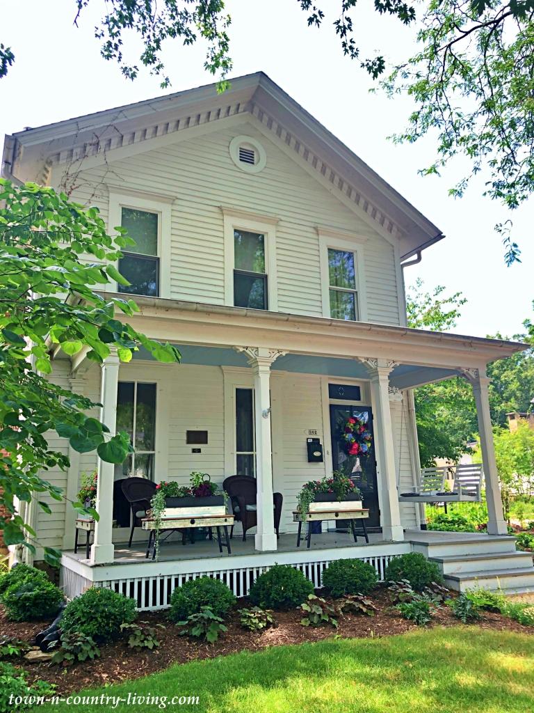 White Historic Home in Geneva, Illinois