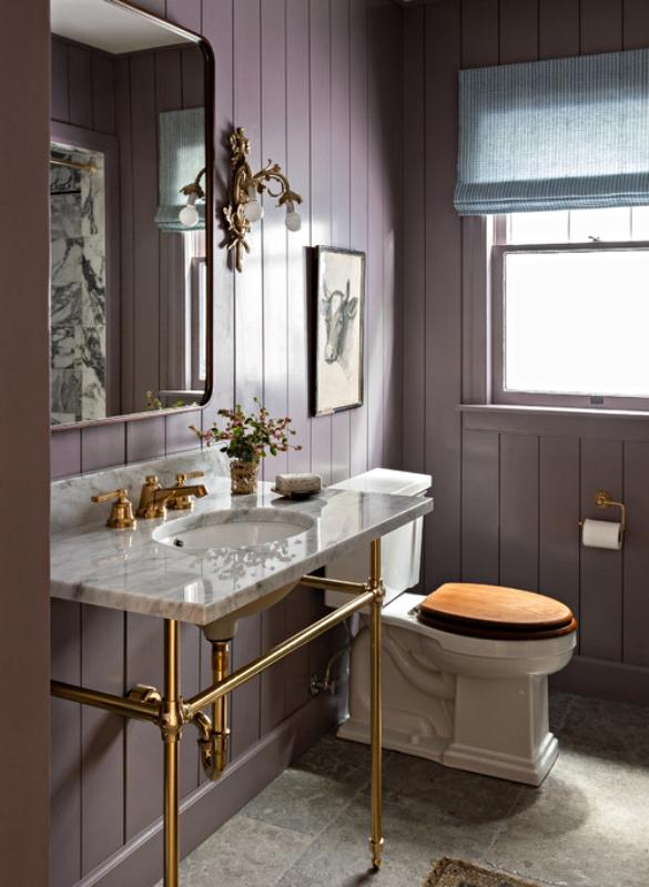 Lavender Gray Powder Room