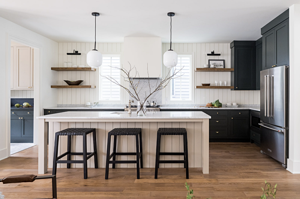Transitional Kitchen with Touches of Farmhouse Style