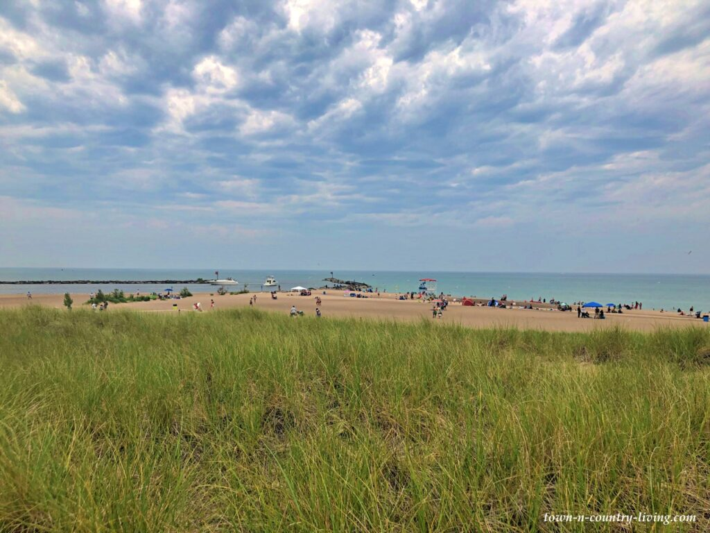 The Beach at New Buffalo on Lake Michigan