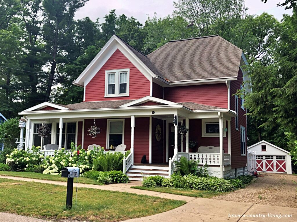 Charming Older Red Home with Full Front Porch