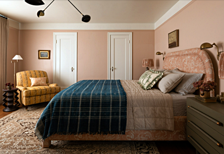 Rose Colored Master Bedroom