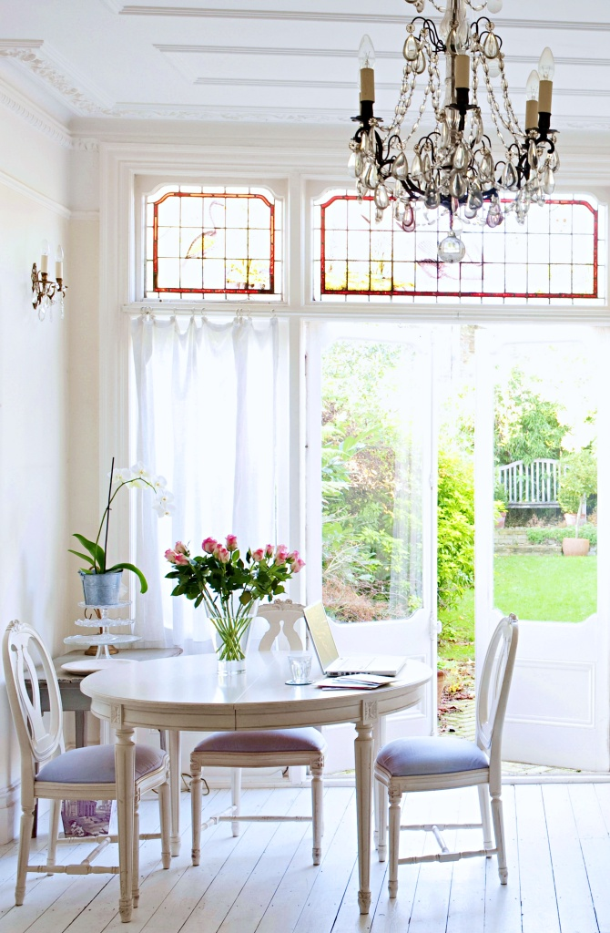 Vintage Dining Room in English Home