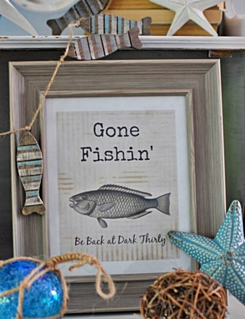 Free Gone Fishin' Printable
