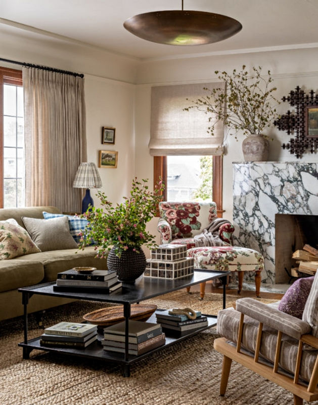 Historic Traditional Style Living Room in Seattle Tudor Home