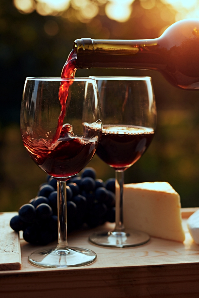 Visit a winery in the evening for a beautiful sunset