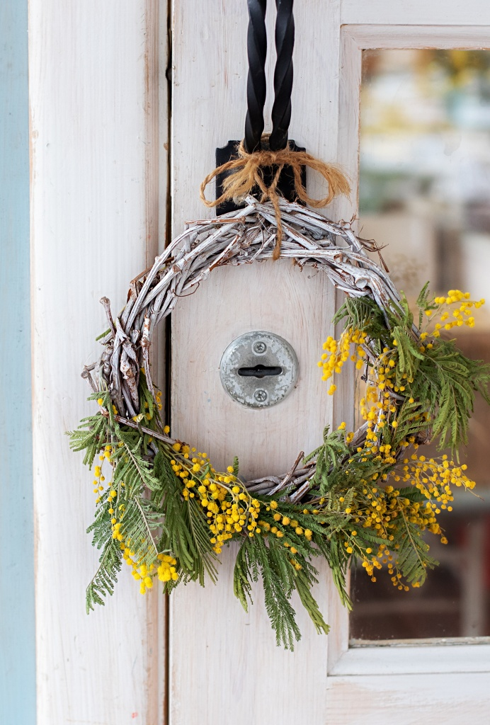 Yellow and Green Summer Wreath