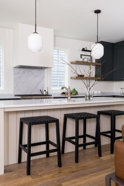 Shaker Cabinets and Marble Countertop in Transitional Kitchen