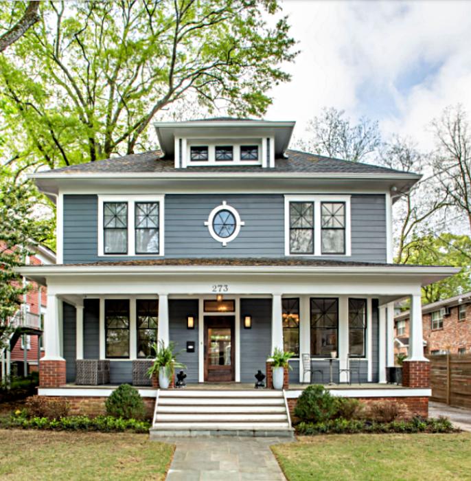 American Foursquare Traditional Home