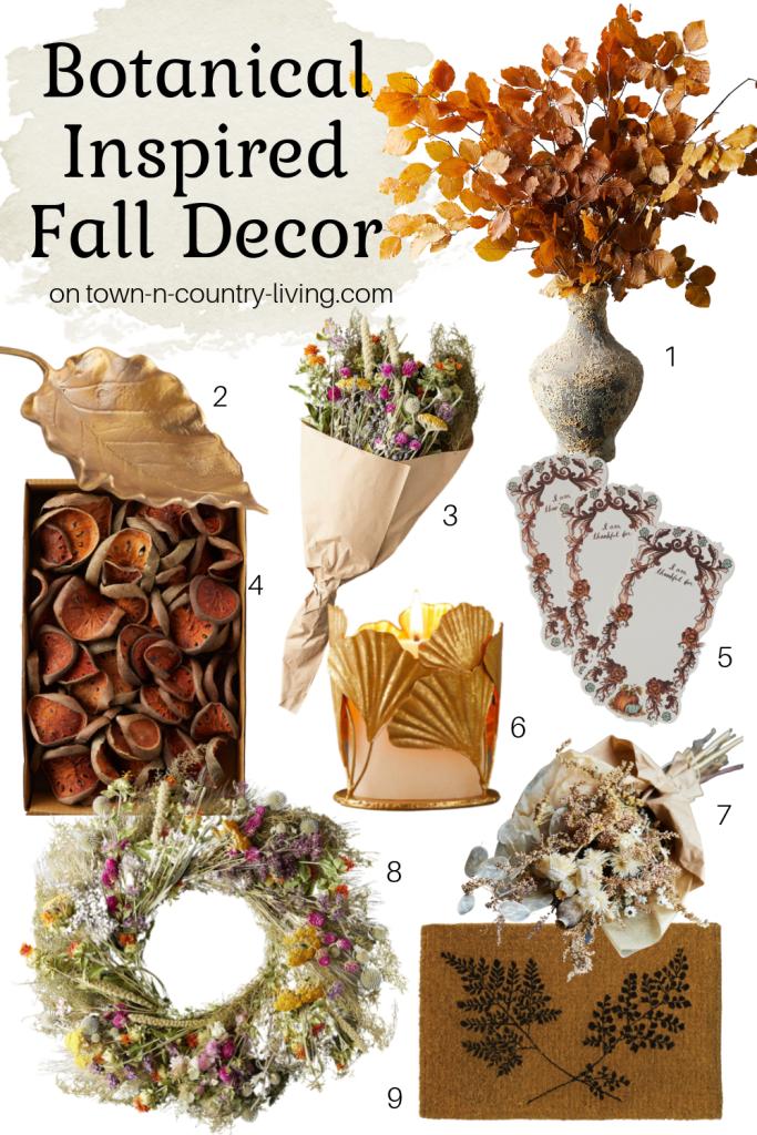 Botanical Inspired Fall Decor