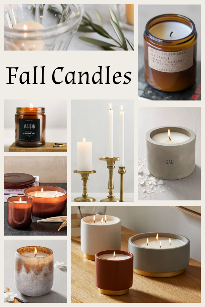 Collection of Fall Candles