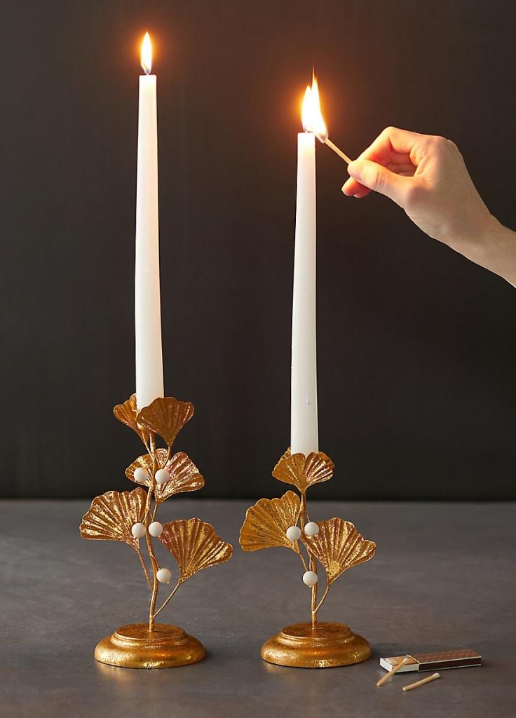 Gingko Candlesticks by Terrain