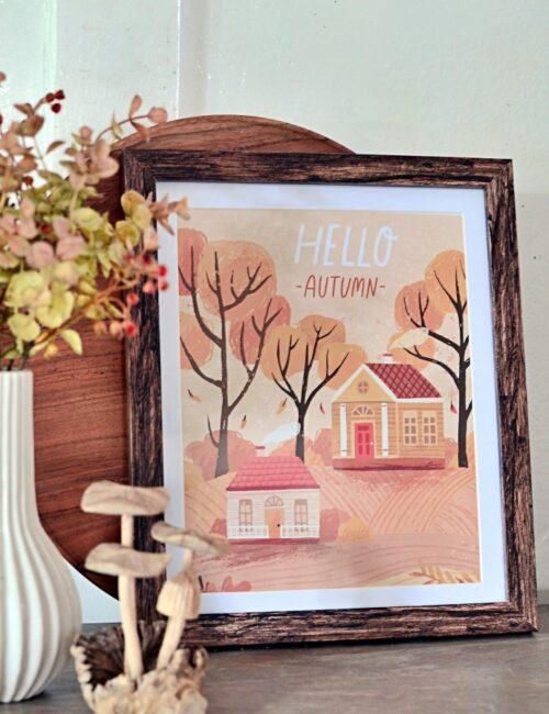 Fall House Printables - reminiscent of primitive folk art