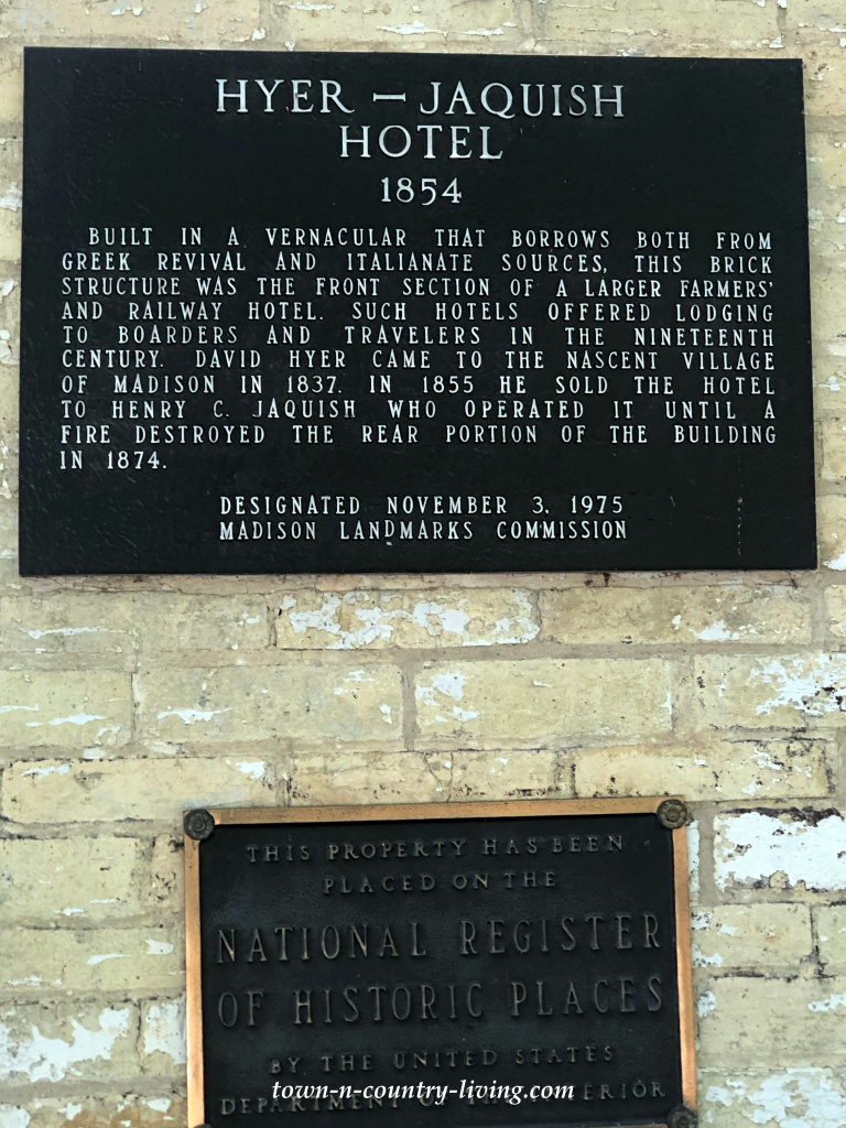 Historic House Plaque in Madison