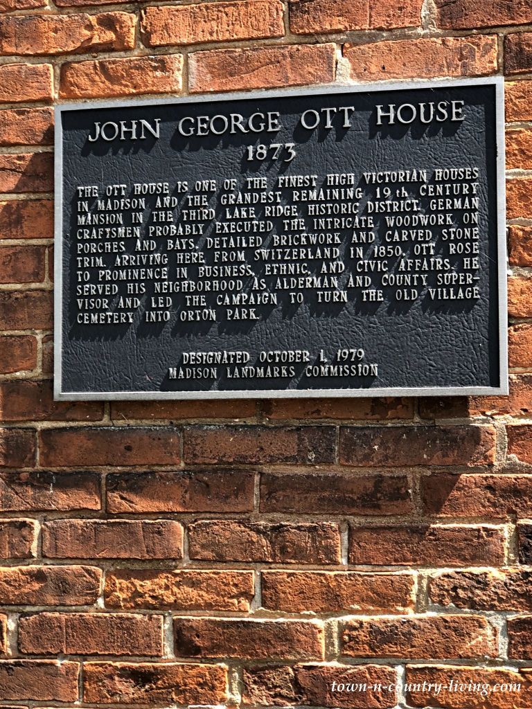 Historic Home Plaque Designation - George Ott House