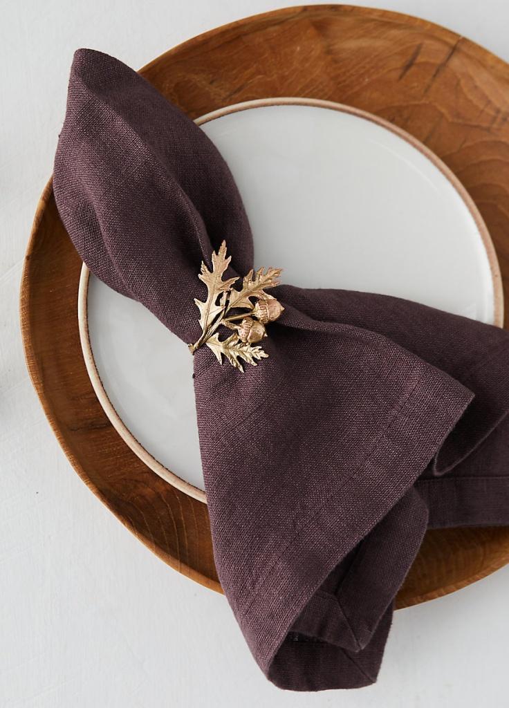 Oak Leaf and Acorn Napkin Rings by Terrain