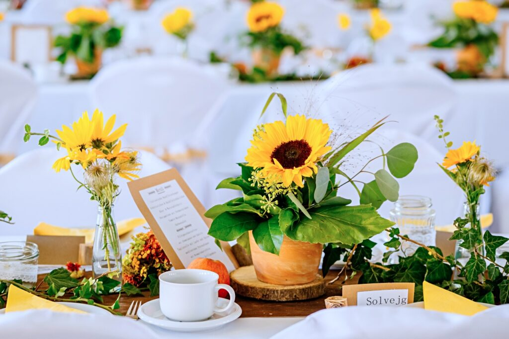 Sunflower Wedding decoration autumn celebration