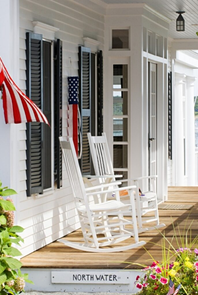 Rocking Chairs on Summer Porch