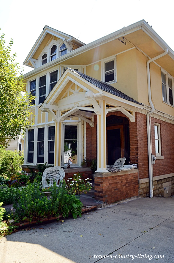 Large Yellow Craftsman Style Home in Madison, Wisconsin