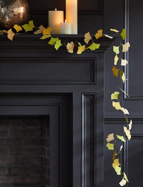 Metal Gingko Leaf Garland by Terrain for Fall Decor