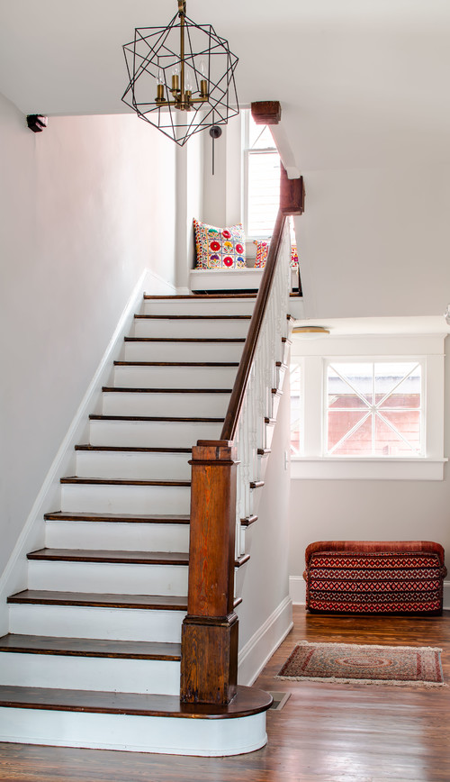 Wood and White Paint Staircase
