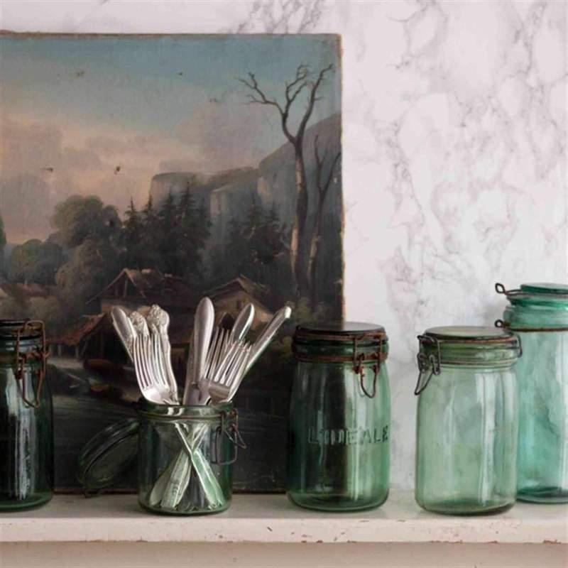 Vintage Canning Jars with lids