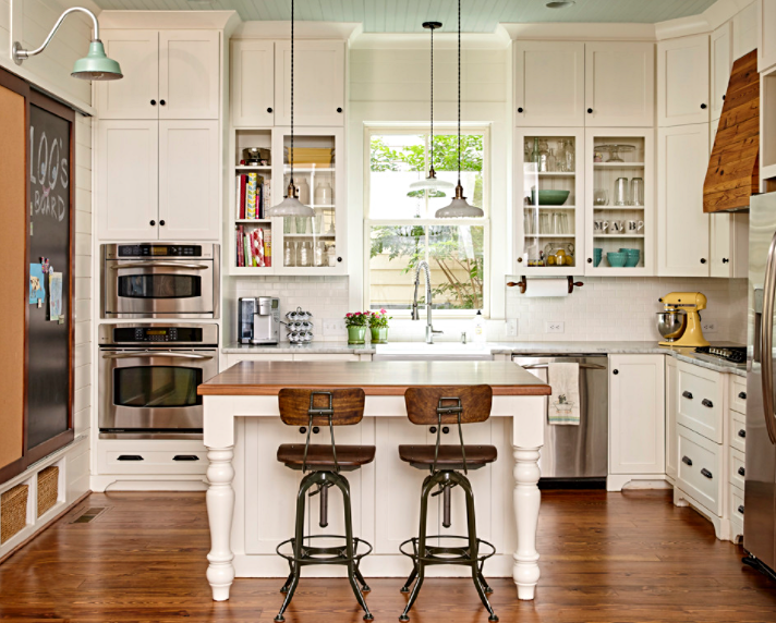 Vintage kitchen in a cottage style bungalow