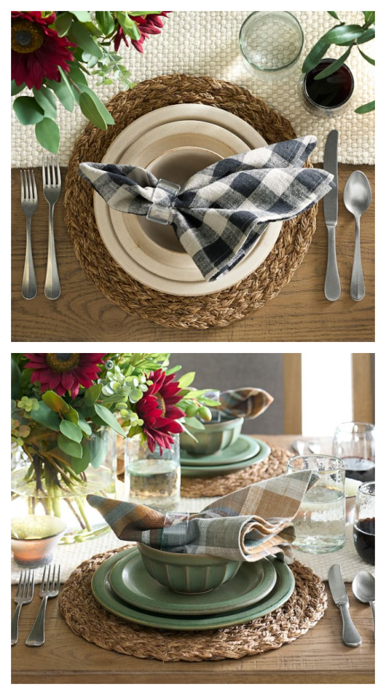 Mendocino stoneware place settings from Pottery Barn