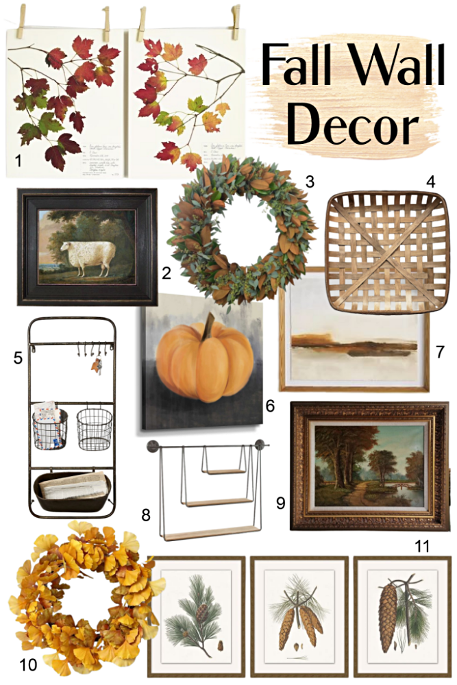 Fall Wall Decor with sources to buy