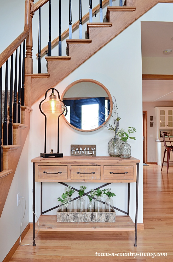 Farmhouse Style Entryway in Traditional Home