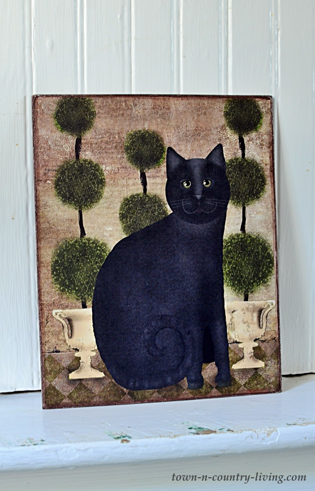 Primitive Black Cat Print