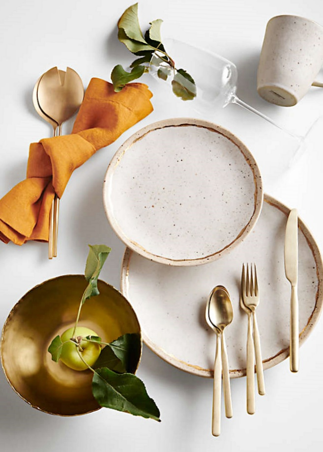 Primrose Gold Dinnerware by Crate and Barrel