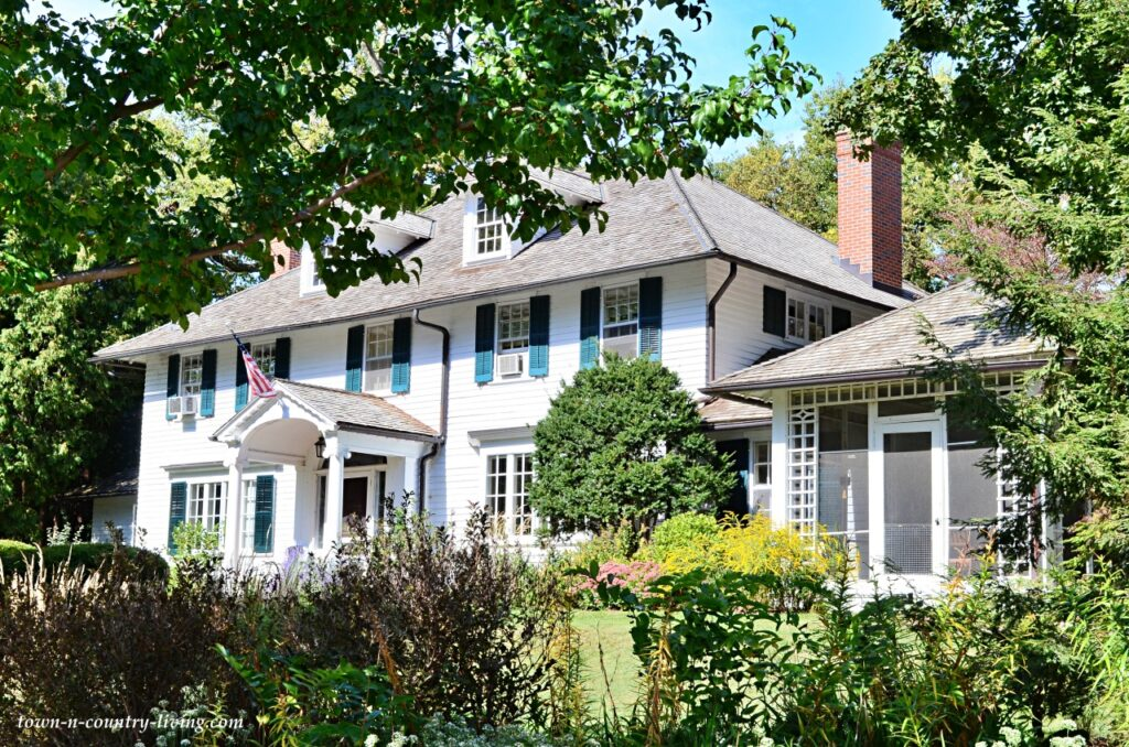 Classic White Colonial Home