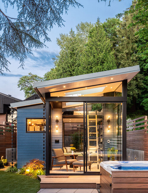 Backyard Reading Retreat crafted from tiny house