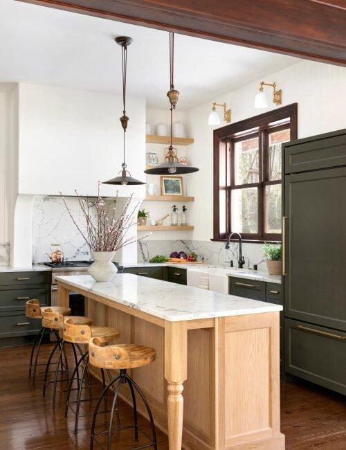 Historic Home L-Shaped Kitchen Renovation