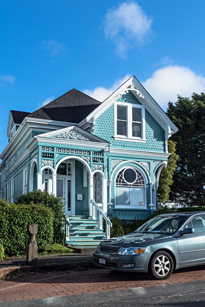 Blue Victorian house in Eureka, California