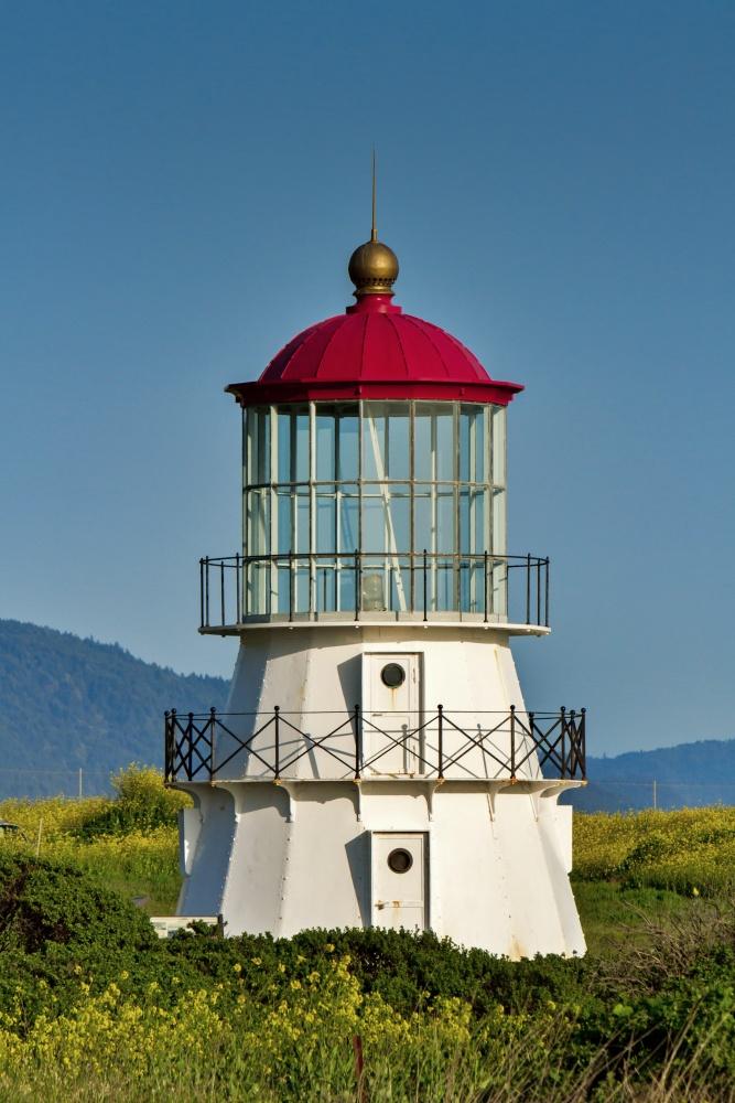 Cape Mendocino lighthouse on the north california coast.