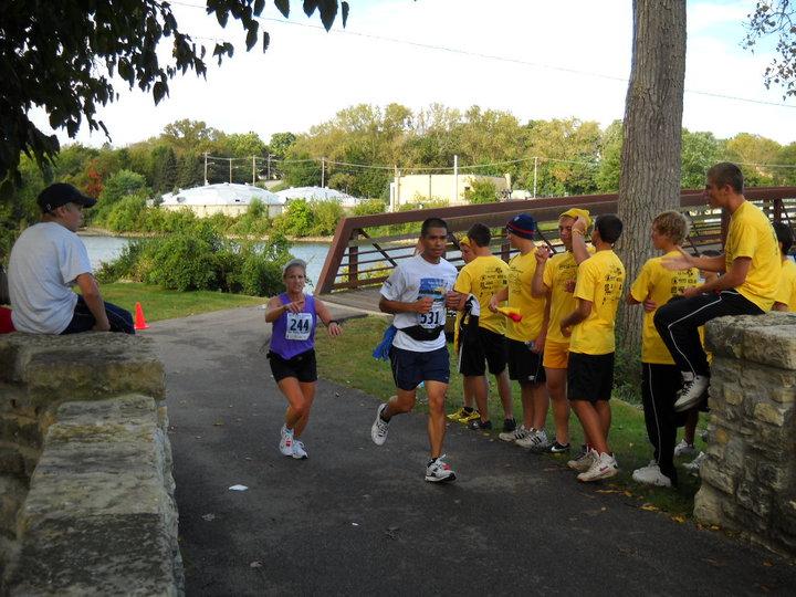 Fox River Valley Marathon group of friends