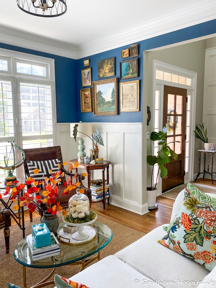 Fall Home Tour with Blue