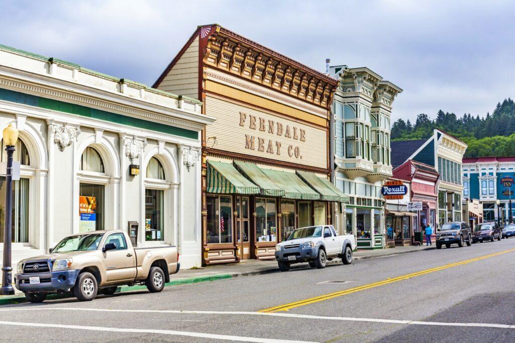 Main Street in historic Ferndale, California