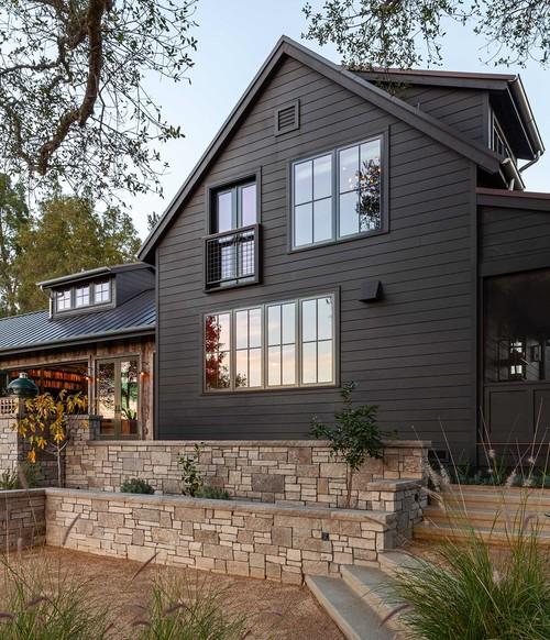 Dark Brown Modern Farmhouse Renovation in San Francisco