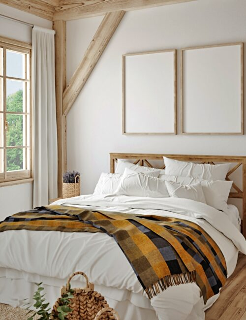 Modern Country Bedroom in Neutral Colors