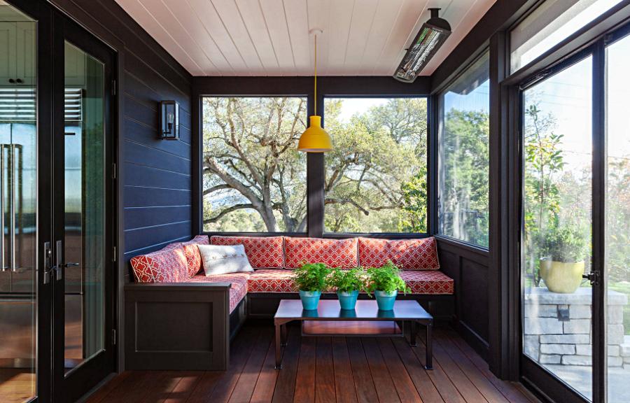 Modern Cabin Style Sunroom
